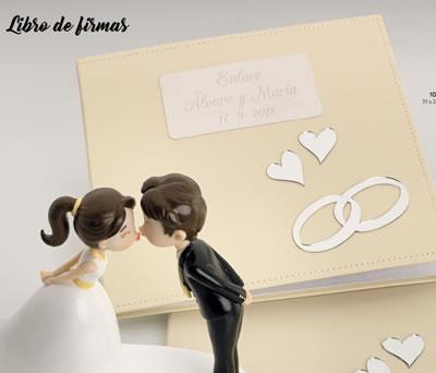 Libro de firmas personalizado para guardar todos los buenos deseos de tus invitados el día de la boda