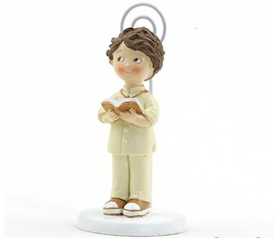 Portafoto niño traje beige Obsequio Comunión