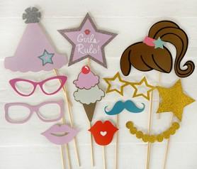 Set de postizos de princesa 12 piezas para fiestas infantiles o comuniones