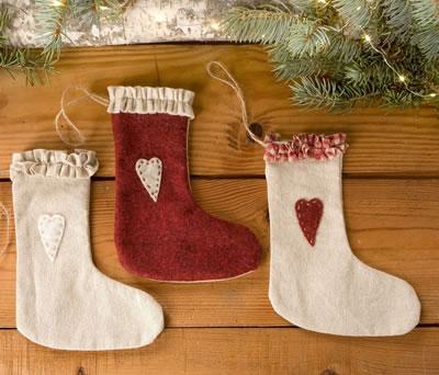 Botitas colgantes para decorar tu árbol de navidad