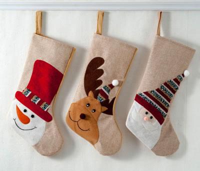 Calcetines de navidad para dejar los regalos de papa noel