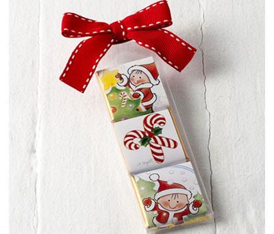 Chocolatinas navideñas como detalle para regalar en estas navidades