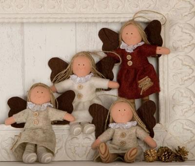 Colgante angelitas alas para adornar tu árbol de navidad