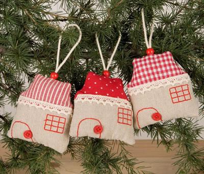Colgante casita para decorar tu árbol de navidad