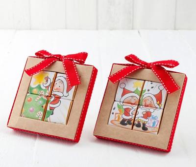 Estuche puzzle chocolatinas villancicos como detalles para los niños en estas navidades