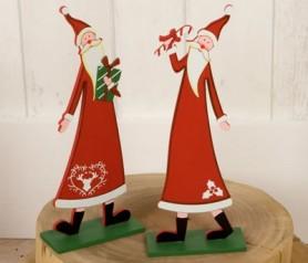 Figura de Papá Noel madera para decorar de navidad tu hogar