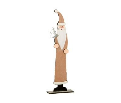 Papa noel decorativo de madera para regalar o decorar ambientes