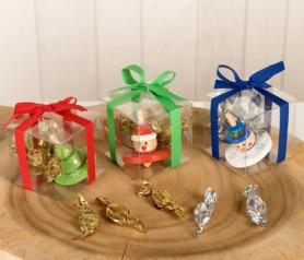 Peonzas navideñas en estuche como regalo de navidad para niños