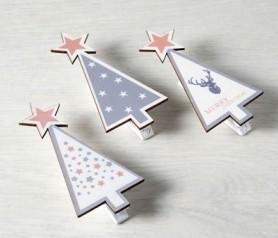 Pinza navideña como complemento de regalos de navidad