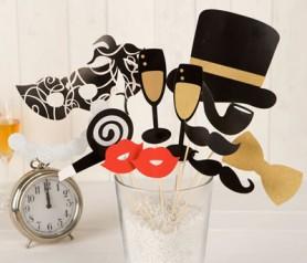 Set postizos fiesta año nuevo para fotos divertidas