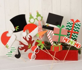 Set postizos navidad para photocall
