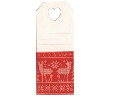 Tarjeta navideña renos para personalizar los regalos estas navidades