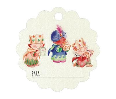 Tarjeta navideñas de los Reyes Magos para completar tu regalo de navidad