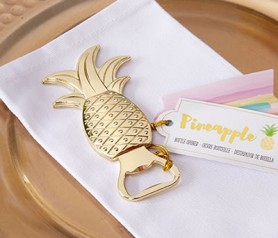 Abridor piña tropical como detalle de boda para los hombres invitados
