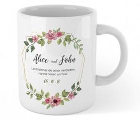 Taza sublimation para personalizar a todo color como detalle de boda o comunión o como regalo publicitario para clientes de empresa