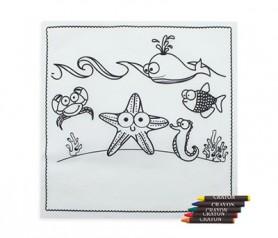 Mantel para pintar como detalle infantil para los niños de bodas, comuniones o bautizos