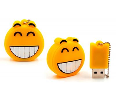 Memoria USB emoticono sonriente como detalle para los invitados a una comunión