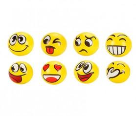 Pelota pequeña de goma emoticonos para regalar a los niños