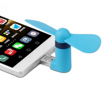 ventilador para móviles color azul como obsequio para los invitados de tu boda