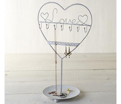 JOYERO BLANCO DE METAL LOVE como detalle para los invitadas a la boda o comunión