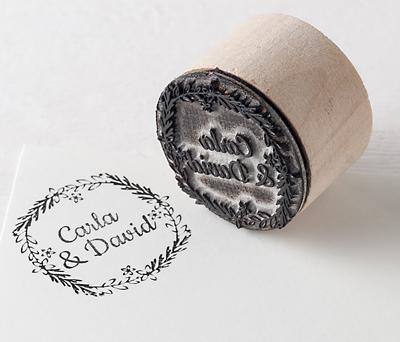 Sello personalizado Corona romántica para decorar tus detalles