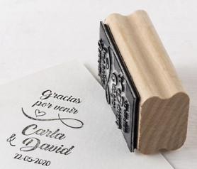 Sello personalizado lazo Gracias por venir para personalizar los obsequios a los invitados