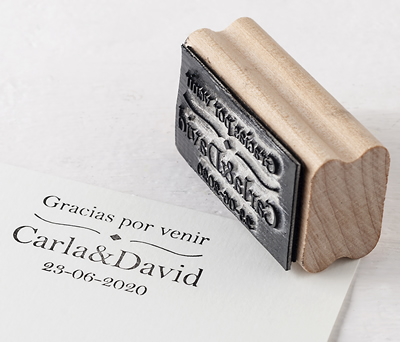 Sello personalizado rombo Gracias por venir para personalizar los obsequios a los invitados