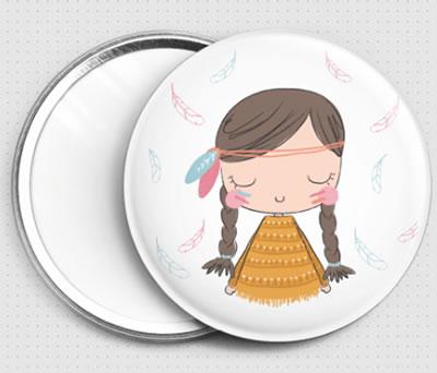 Espejo india como detalle de comunión para las invitadas de la comunión