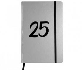Libreta A5 25 aniversario como detalle de boda de plata para tus invitados