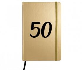 Libreta A5 50 aniversario como detalle de boda de oro para tus invitados