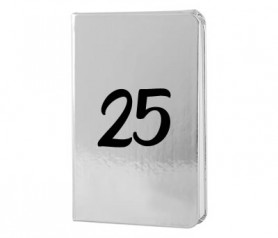 Libreta plateada 25 aniversario como detalle como los invitados a tu celebracion de bodas de plata