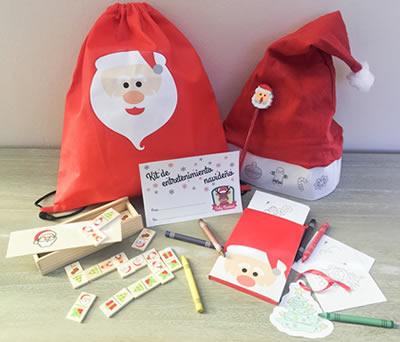 Kit entretenimiento navideño como detalle de navidad para niños