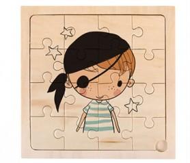 Puzzle de 16 piezas como detalle de comunión o para detalle infantil con diseño de pirata