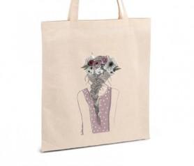 Bolsa de asas con diseño femenino como detalle de boda para mujeres y regalo especial para amigas