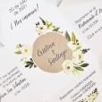 Impresión en relieve para la invitación piramidal novedosa para bodas de 2019 y 2020