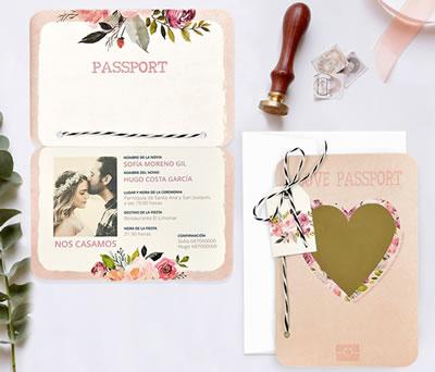 Invitación corazón rasca sorpresa para anunciar vuestro enlace a tus invitados