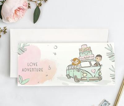Invitación de boda Love Adventure