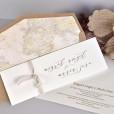Invitación de boda forro mapa