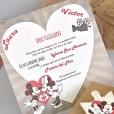 Invitación de boda puzzle montado diseño Disney