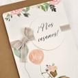 Invitación de boda vintage y floral como novedad en invitaciones de boda en 2019 y 2020