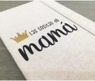 Libreta tela con la frase las cositas de mamá para regalar a todas las madres en cualquier momento del año