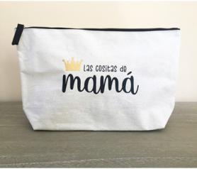 Neceser con la frase las cositas de mamá para regalar a cualquier madre.fw