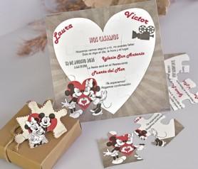 Original invitación Disney en puzzle para sorprender a tus invitados