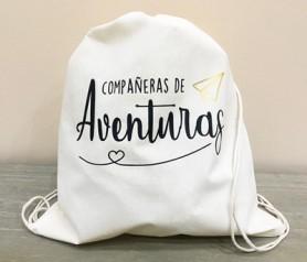 Petate de algodón Compañeras de Aventuras como regalo para amigas, hermanas, primas, compañeras de trabajo
