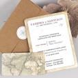 contraportada invitación viaje y tarjeta de confirmación