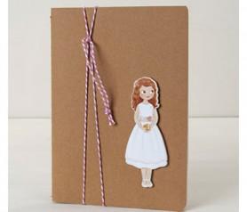 Libreta con niña comunión decorada como detalle para tus invitados