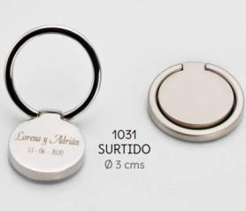 Anillo sujetamóvil y atril personalizable apto para cualquier modelo de móvil ideal como detalle de boda o comunión