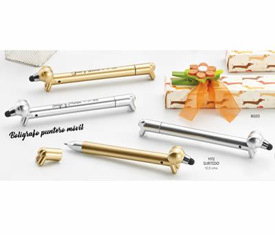 Bolígrafo de perro con puntero táctil para el móvil presentado en caja de regalo perfecto para regalar como detalle de boda o comunión a las invitadas del evento