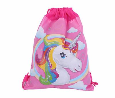 Mochila petate unicornio como detalle de comunión para niñas o regalo infantil