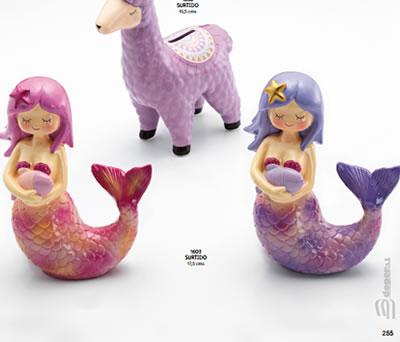 Hucha de sirena como regalo de cumpleaños, para regalar en fiestas infantiles o como detalle de comunión